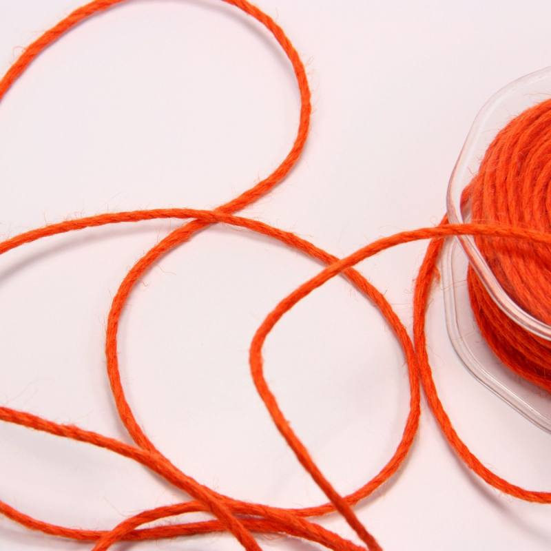Cordelière jute 3 mm orange