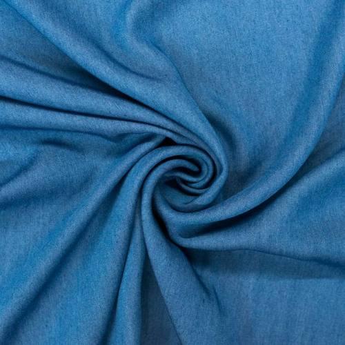 Tissu jean lyocell bleu brut