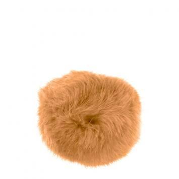 Pompon beige fausse fourrure