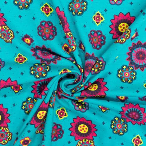 Jersey bleu motif mandala