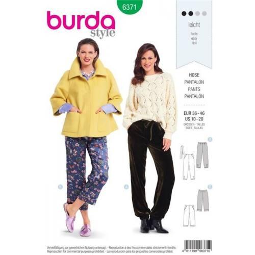 Patron Burda 6371 : Pantalon Taille 36-46
