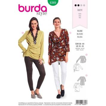 Patron Burda 6369 : Blouse Taille : 36-44