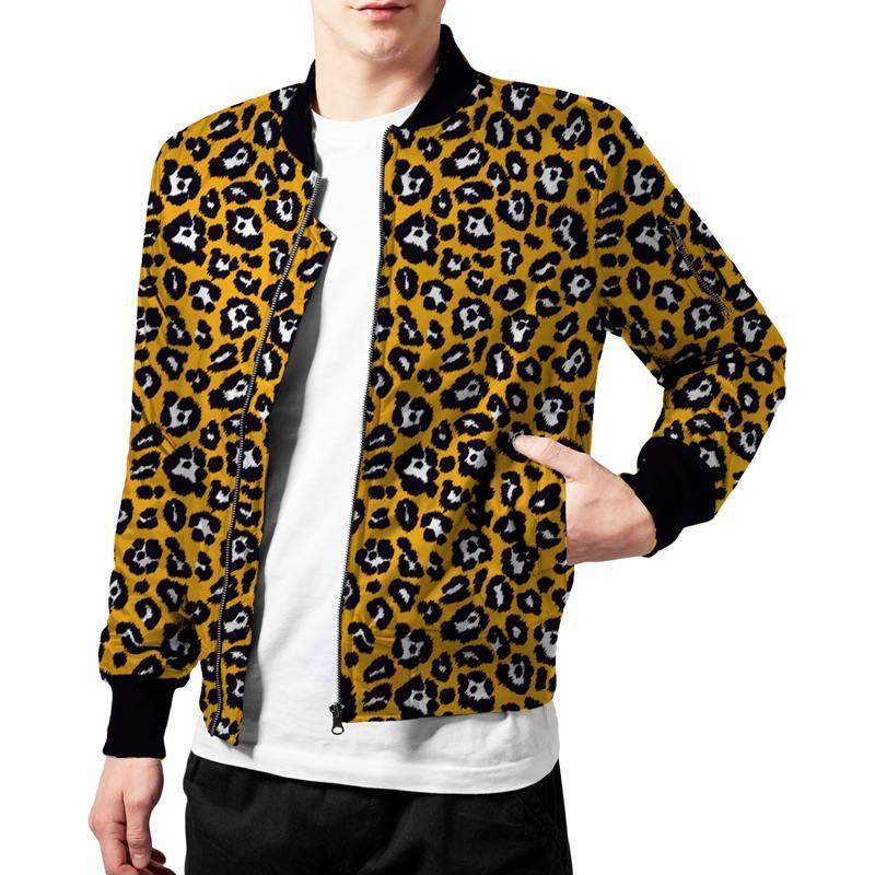 Gabardine stretch imprimé léopard ocre