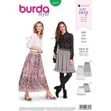 Patron Burda 6357 : Jupe Taille : 36-46