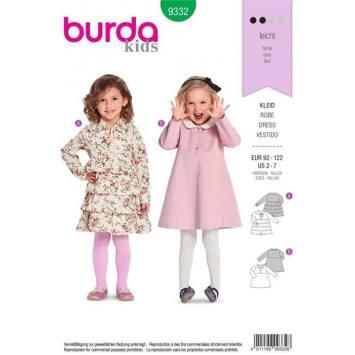 Patron Burda 9332 : Robe Taille : 92-122 cm
