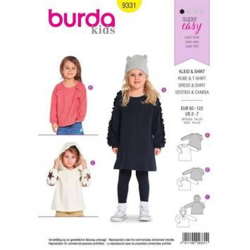Patron Burda 9331 : Robe et t-shirt Taille : 92-122 cm