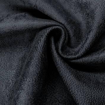 Simili cuir bronco bleu ardoise