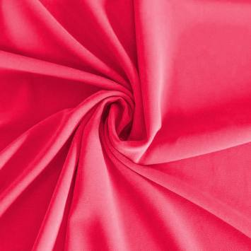 Mousseline crêpe pearl rose fuchsia