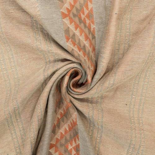 Jacquard à rayures ethniques orange et marron