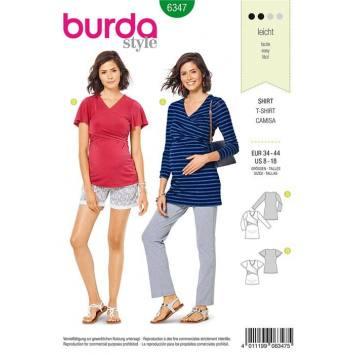 Patron Burda 6347 : T-shirtTaille : 34-44