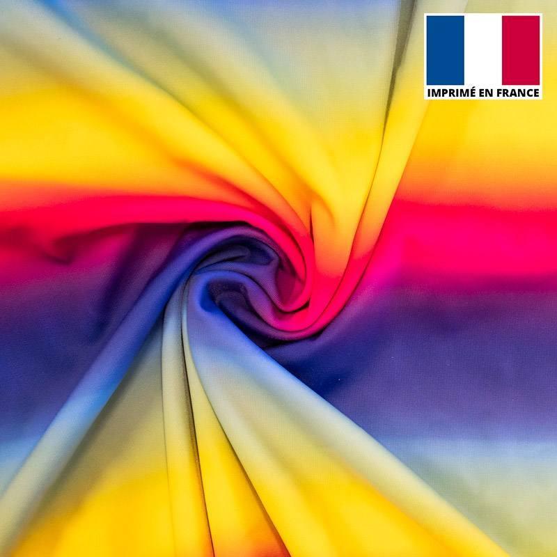 Lycra arc-en-ciel multicolore