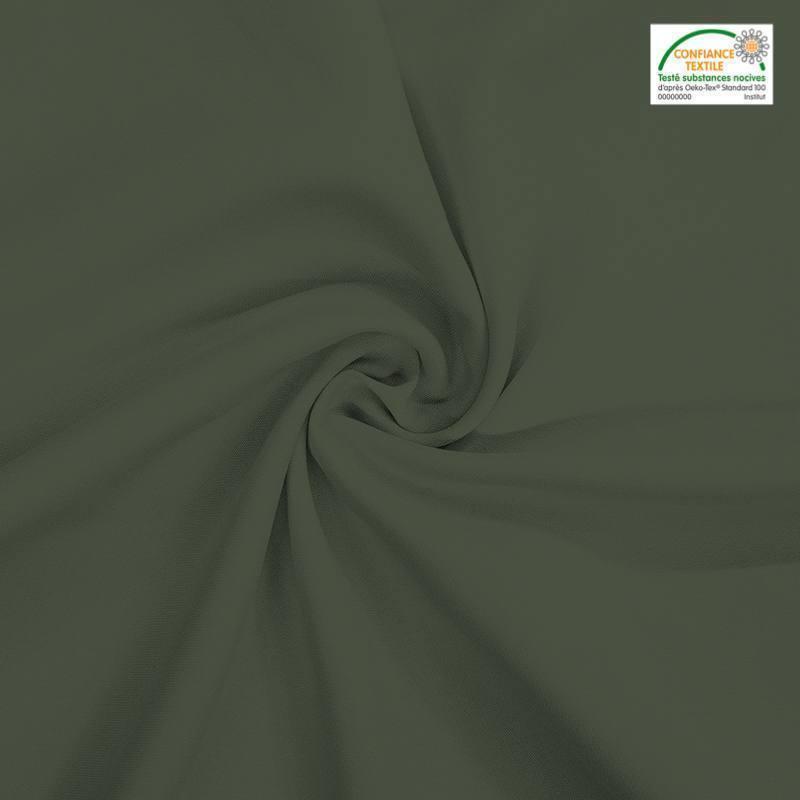 Rouleau 27m burlington infroissable Oeko-tex vert kaki