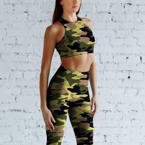 Lycra imprimé militaire nuances de vert