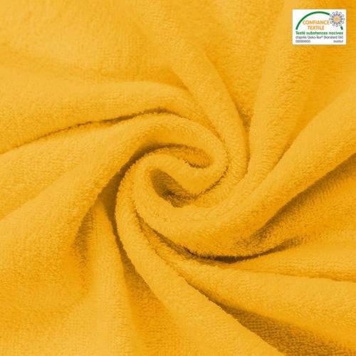 Tissu éponge jaune Oeko-tex