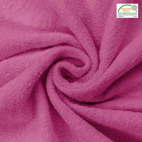 Tissu éponge magenta