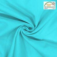 Toile coton bleu céleste oeko-tex grande largeur