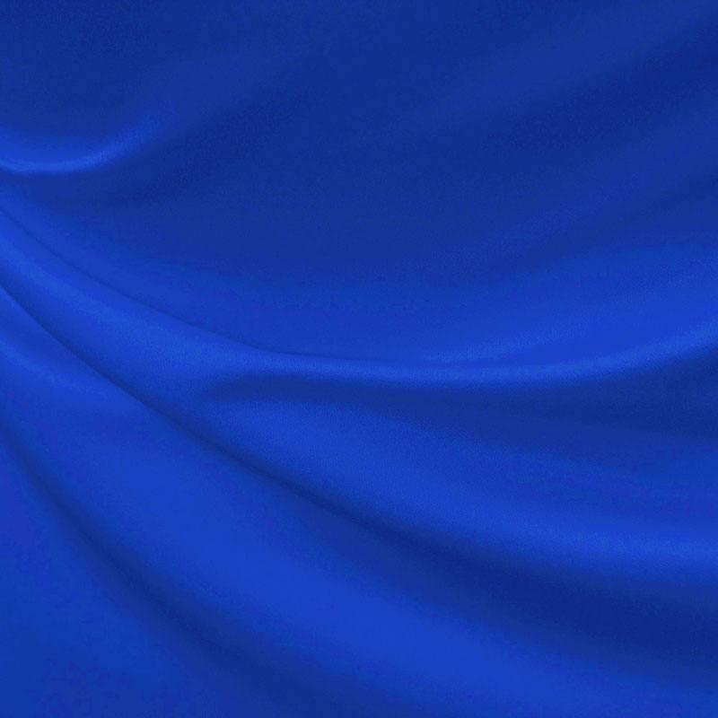 Satin duchesse bleu roi