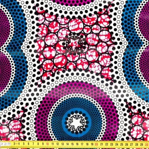 Wax - Tissu africain bleu et violet 285