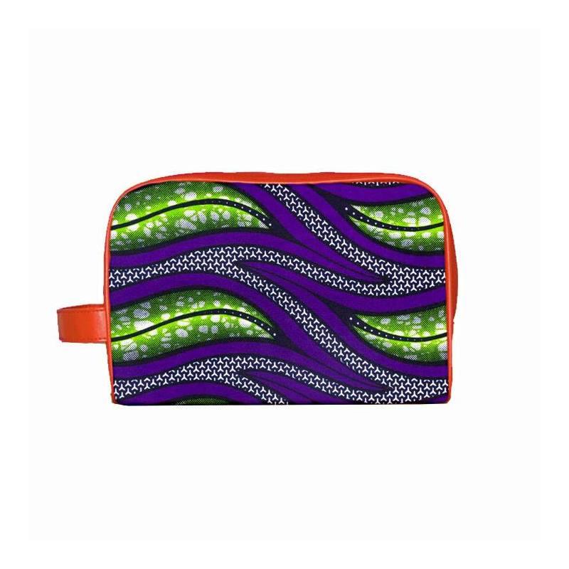 Wax - Tissu africain vert et violet 301