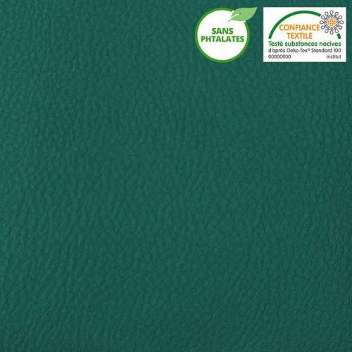 Simili cuir uni vert canard