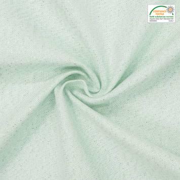 Coton vert amande fil doré