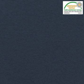 Tissu tubulaire bord-côte bleu marine