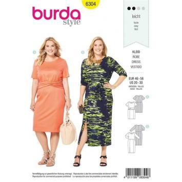 Patron Burda 6304 : Robe Taille : 46-56