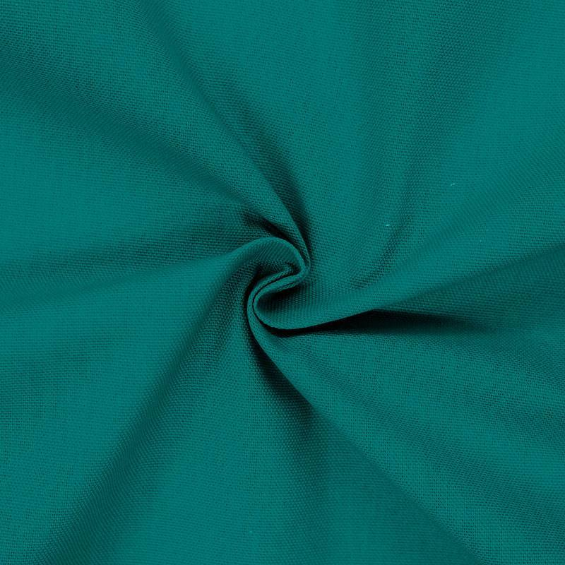 Toile coton vert paon
