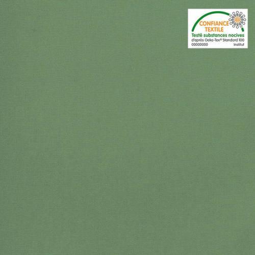 Toile coton vert grande largeur