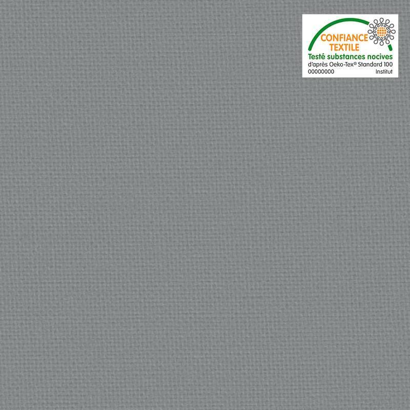 Toile coton vert de gris grande largeur