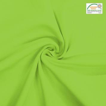 coupon - Coupon 70x280cm - Burlington infroissable Oeko-tex vert anis