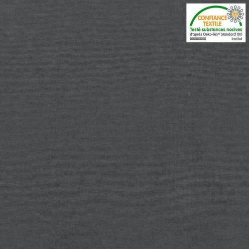 Rouleau 10m tissu tubulaire bord-côte gris bleu