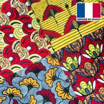 Velours ras imprimé patchwork
