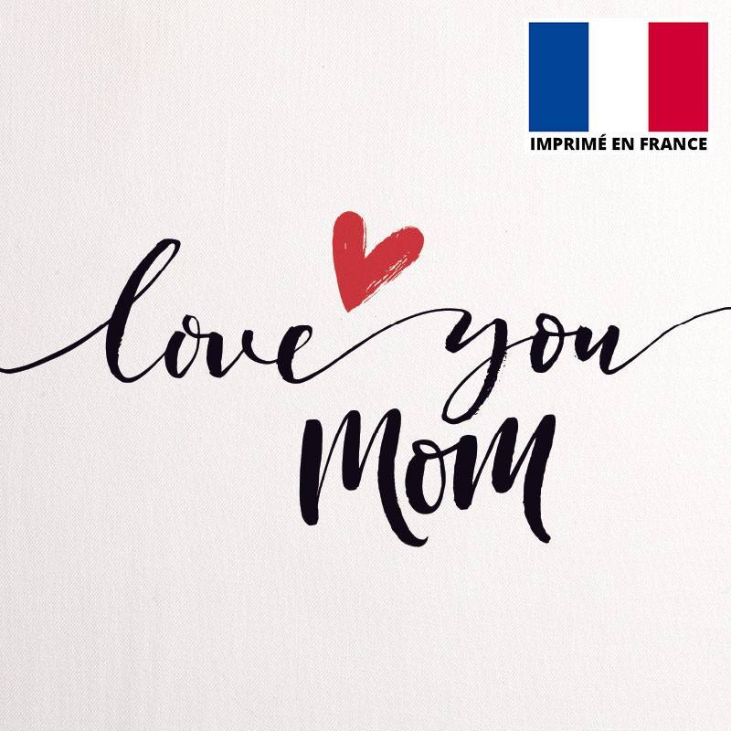 Coupon 45X45 cm toile coton love you mom