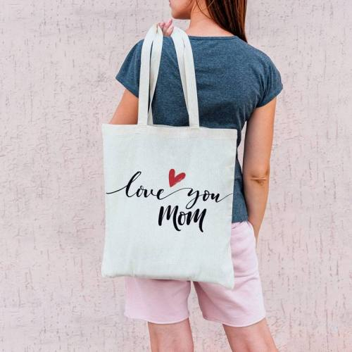 Coupon 45X45 cm toile coton love you mom