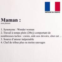 Coupon 45X45 cm toile coton canvas dictionnaire maman