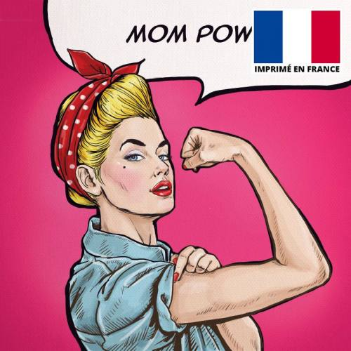Coupon 45x45 cm toile canvas mom power