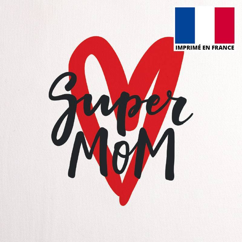 Coupon 45X45 cm toile coton canvas super mom