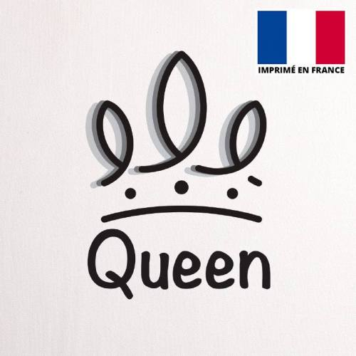 Coupon 45X45 cm toile canvas queen