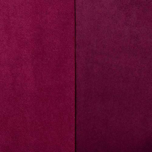 Suédine réversible aubergine et framboise