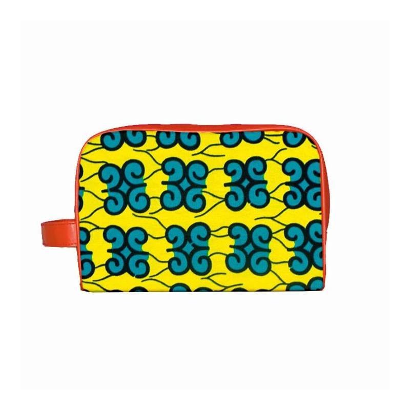 Wax - Tissu africain jaune motif arabesque 350