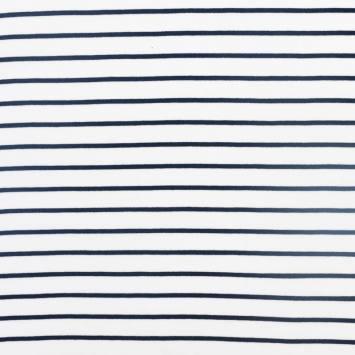Jersey rayé blanc et bleu marine