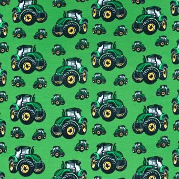 Jersey vert imprimé tracteur