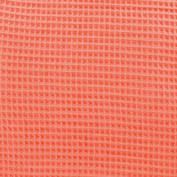 Tissu nid d'abeille corail