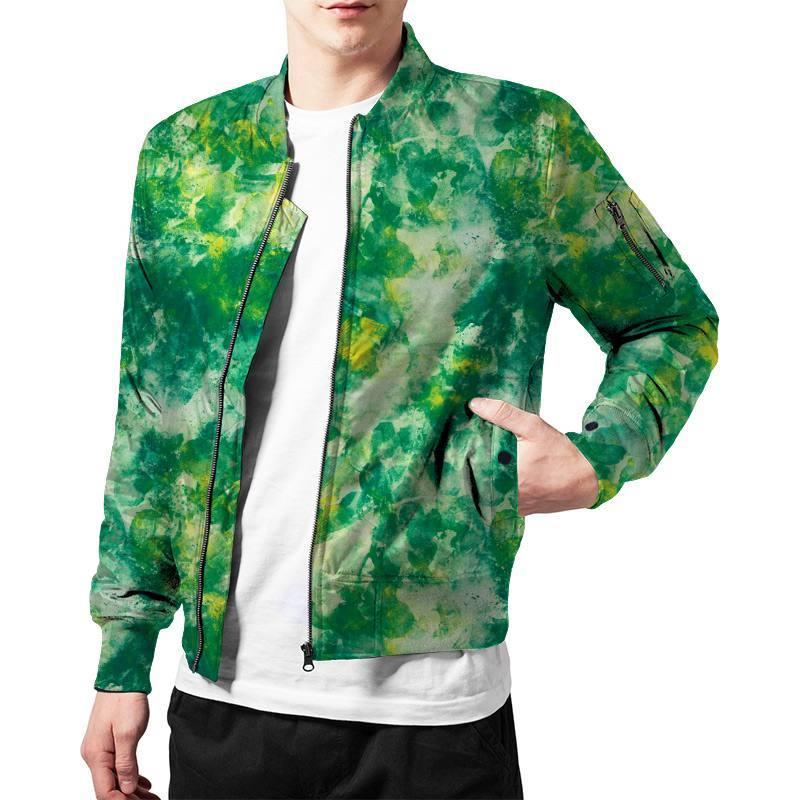 Tissu microfibre imprimé auréole de peinture verte