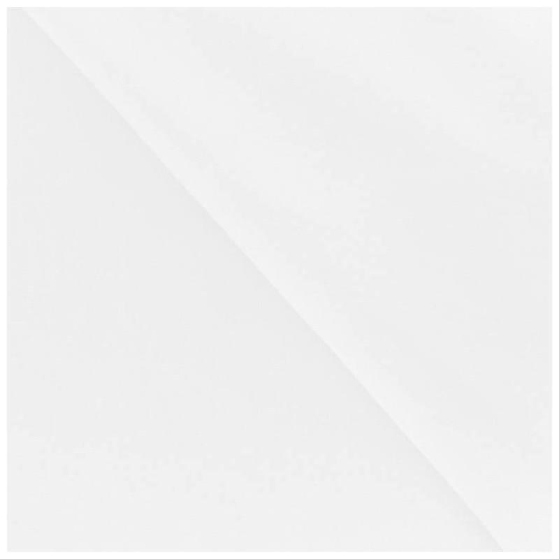 Tissu polycoton uni blanc 180 cm