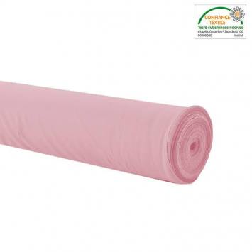 Rouleau 26m Burlington infroissable Oeko-tex rose clair