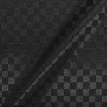 Jacquard damassé enduit noir