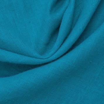 Toile de jute bleu azur
