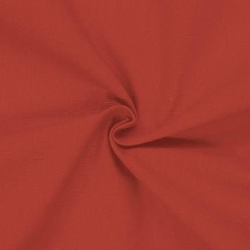 Toile coton rouge brique grande largeur